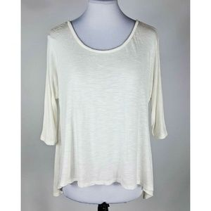 Rebellious One White Loose Fit Knit Top S